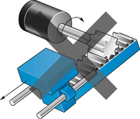 Linear motor rack and pinion
